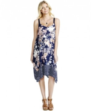 Jessica Simpson Maternity Floral-Print Handkerchief-Hem Dress