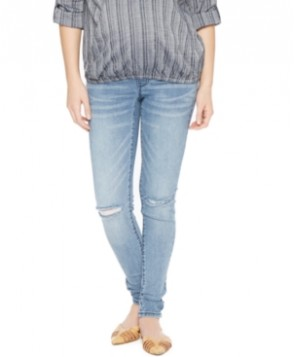 Wendy Bellissimo Distressed Maternity Skinny Jeans, Medium Wash