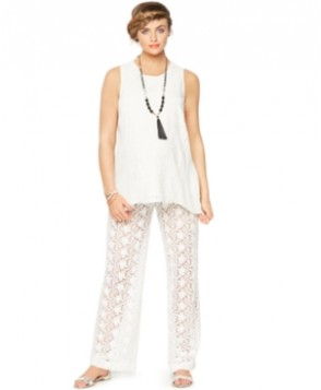 A Pea In The Pod Maternity Lace Wide-Leg Pants