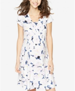 A Pea In The Pod Maternity V-Neck Floral-Print Dress