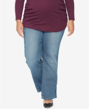 Motherhood Maternity Plus Size Bootcut Medium Wash Jeans