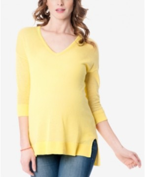 A Pea in the Pod Maternity Linen-Blend Sweater
