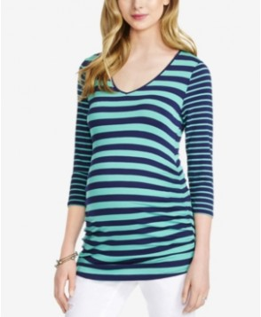 Jessica Simpson Maternity Mixed-Stripe Top