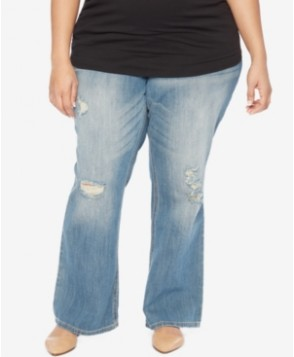 Motherhood Maternity Plus Size Sunset Medium Wash Bootcut Jeans