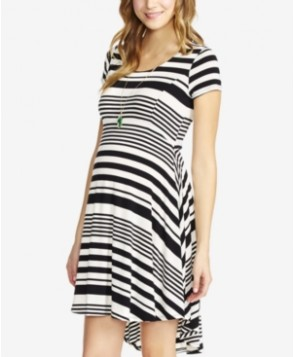Jessica Simpson Maternity Striped High-Low Dress