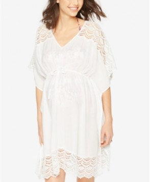 A Pea In The Pod Maternity Lace-Sleeve Cover-Up