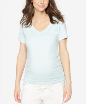 A Pea In The Pod Maternity V-Neck Ruched Tee