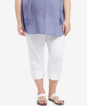 Motherhood Maternity White Wash Cropped Jeans