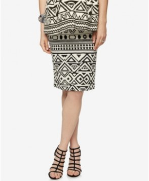A Pea In The Pod Maternity Printed Pencil Skirt