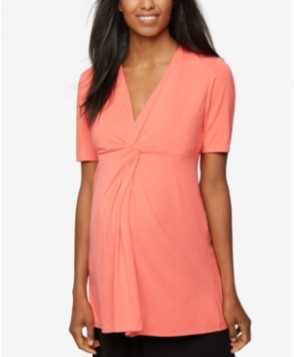 Rachel Zoe Maternity Twist-Front Top