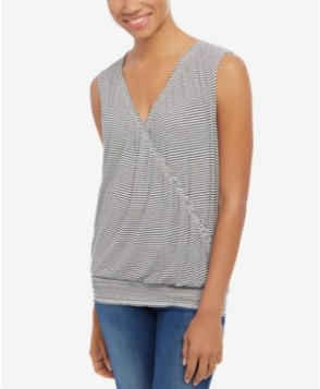 Motherhood Maternity Pull-Down Striped Top