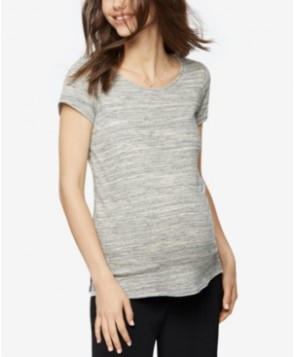 A Pea In The Pod Maternity Cutout Short-Sleeve Top