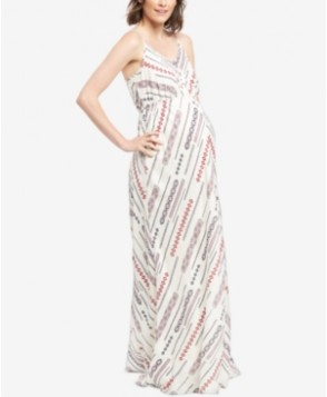 Wendy Bellissimo Maternity Printed Maxi Dress