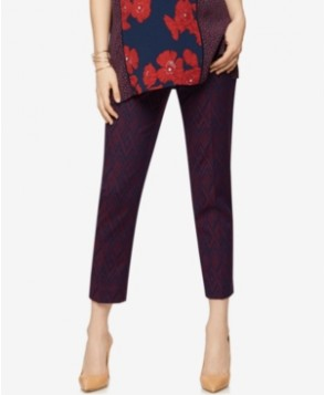 A Pea In The Pod Maternity Jacquard Ankle Pants