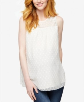 A Pea In The Pod Maternity Lace Sleeveless Blouse