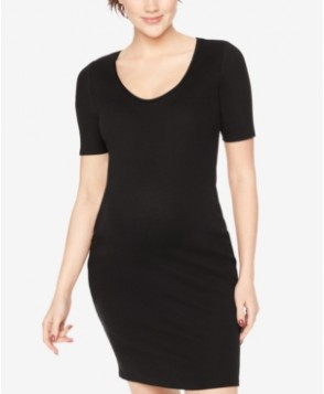 BumpStart Maternity Elbow-Sleeve Sheath Dress