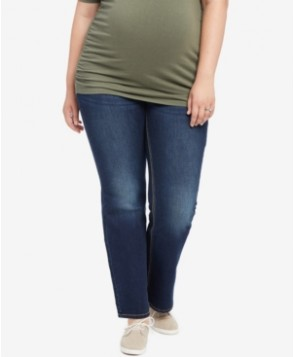 Jessica Simpson Plus Size Dark Wash Boot-Cut Maternity Jeans