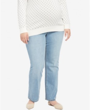 Jessica Simpson Plus Size Day Break Light Wash Boot-Cut Maternity Jeans