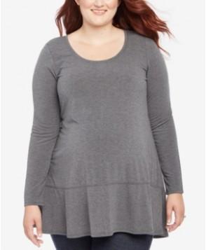 Motherhood Maternity Plus Size Scoop-Neck Tunic