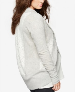 A Pea In The Pod Maternity Open-Front French Terry Cardigan