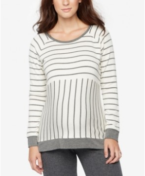 A Pea In The Pod Maternity Striped French Terry Sweatshirt