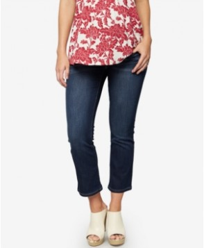 A Pea in the Pod Maternity Dark-Wash Cropped Skinny Jeans