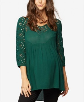 A Pea In The Pod Maternity Eyelet Babydoll Top