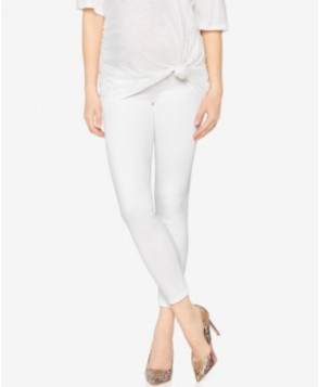 Ag Jeans Maternity Cropped White Wash Skinny Jeans