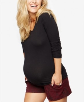 A Pea In The Pod Jacquard Maternity Shorts