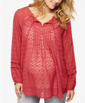 A Pea In The Pod Maternity Jacquard Tunic