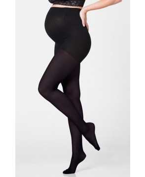 Ingrid & Isabel Opaque Maternity Tights, / - Black