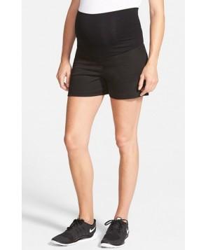 Olian Twill Maternity Shorts