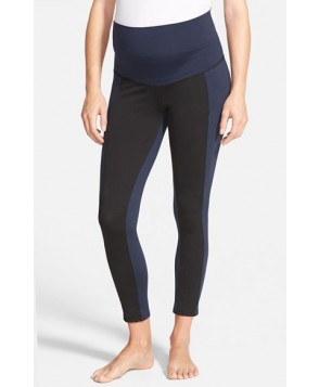 Maternal America Crop Maternity Yoga Pants