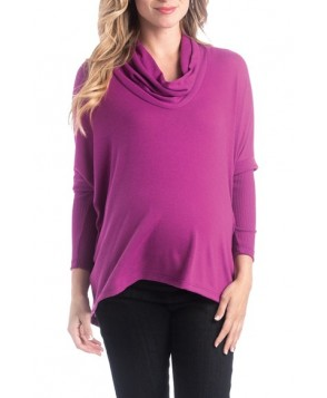 Lilac Clothing 'Sloane' Cowl Neck High/low Maternity Top