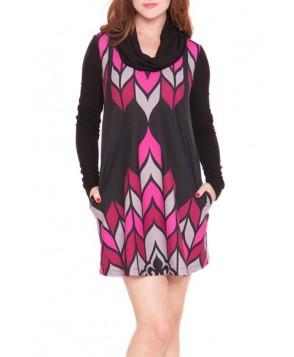 Olian Cowl Neck Maternity Sweater Dress