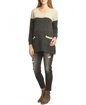 The Urban Ma Contrast Yoke Maternity Sweater