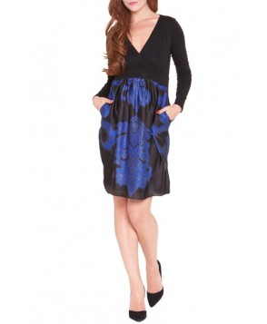 Olian Medallion Print Maternity Dress