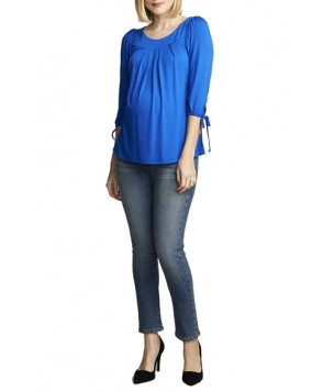 Maternal America Maternity Tie Sleeve Top