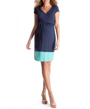 Seraphine Colorblock Nursing Maternity Dress