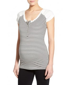 Lab 'Toni' Stripe Maternity/nursing Top