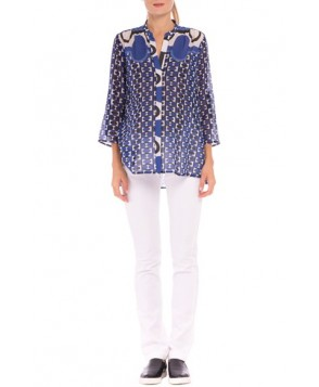 Olian 'Audrey' Silk Maternity Shirt