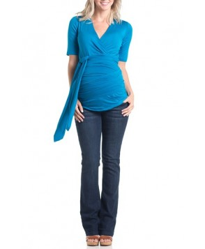 Lilac Clothing 'Bella' Faux Wrap Maternity Top