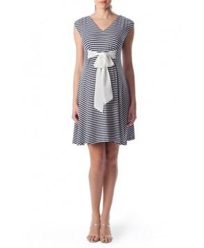 Pietro Brunelli 'Nilo Azzurro' Waist Tie Maternity Dress