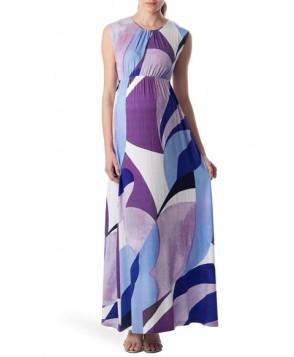 Pietro Brunelli 'Alassio' Graphic Maternity Maxi Dress