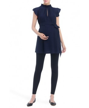 Kimi And Kai 'Karlena' Flutter Sleeve Belted Maternity Top