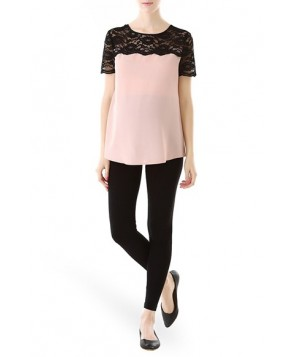 Kimi And Kai Lace Yoke Maternity Blouse