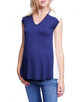 Maternal America Colorblock Maternity Tee