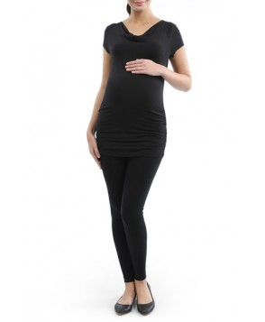 Kimi And Kai Ruched Cowl Neck Maternity Tee