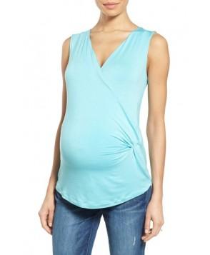Nom Maternity 'Ella' Maternity/nursing Top/green