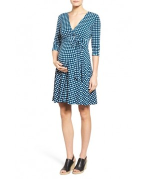 Leota 'Perfect Wrap' Maternity Dress